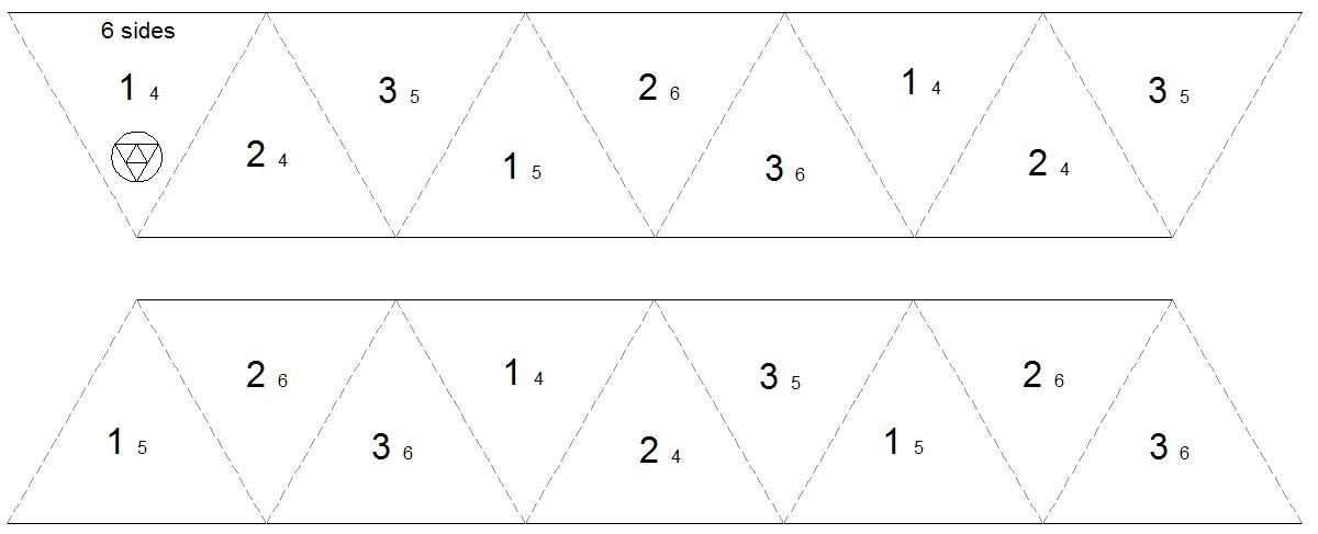 Interleaf foldings for Hexahexaflexagon template