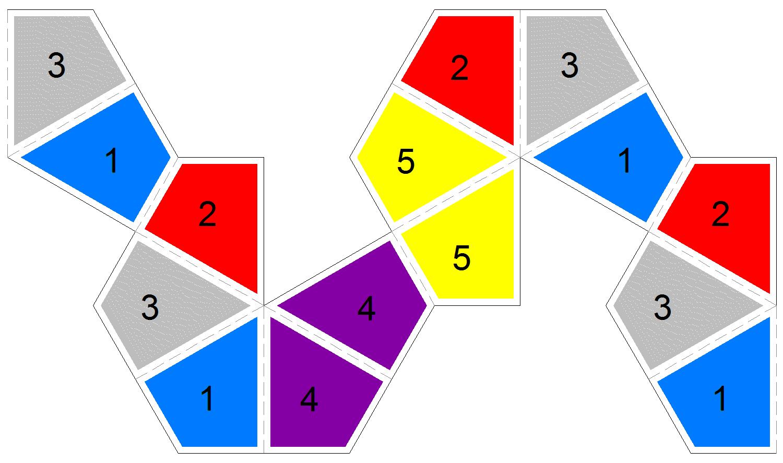 Kite Flexagons – Hexaflexagon Template