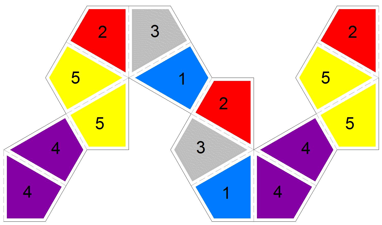 Kite flexagons for Hexahexaflexagon template