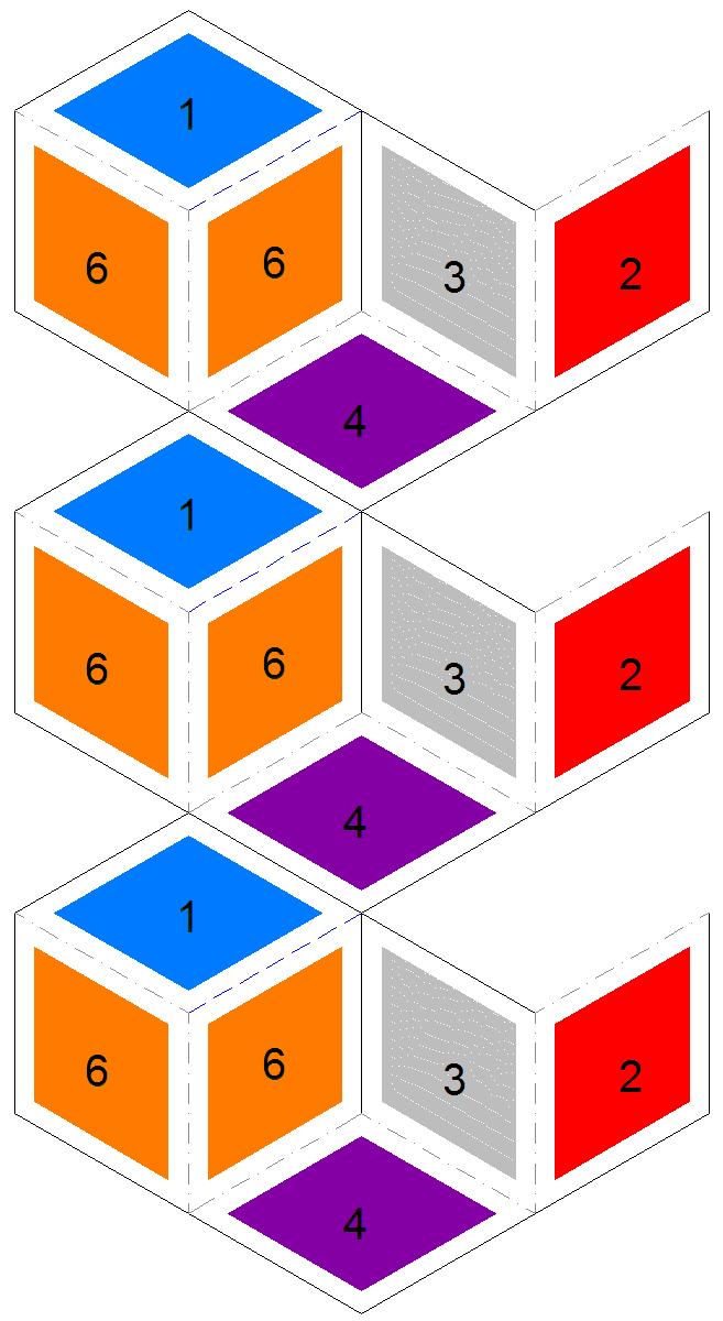 Rhombus Flexagons – Hexaflexagon Template
