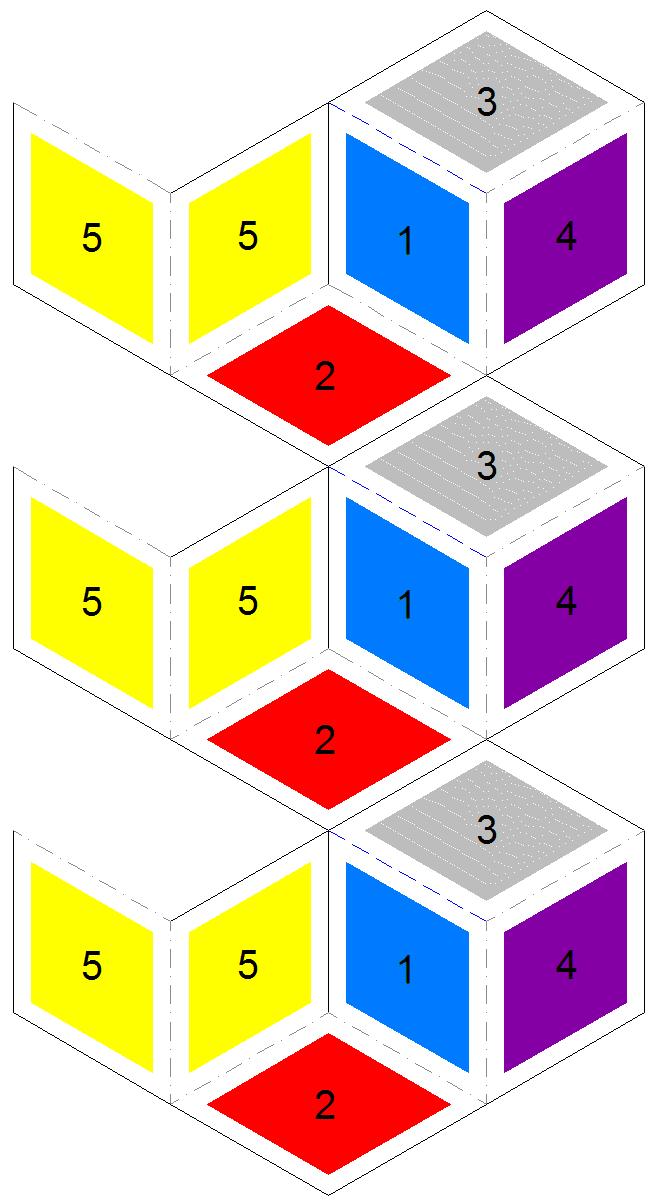 Rhombus flexagons for Hexahexaflexagon template