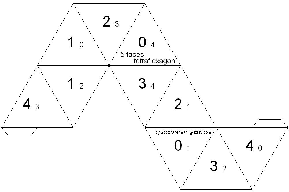 Triangle Tetraflexagon