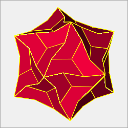 non-convex equilateral pentagonal hexecontahedron