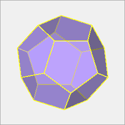 regular dodecahedron